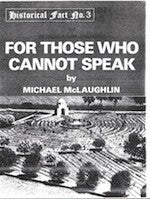 B086 - For Those Who Cannot Speak / By Michael McLaughlin