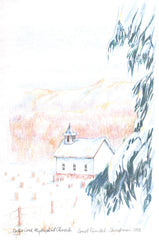 MNEPRT156 - Snowy Church