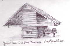 MNEPRT173 - Typical Cades Cove Barn