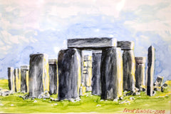 "PRT101 - ""Stonehenge II"" - Framed Art Print By Artist Ernst Zundel Collectible"