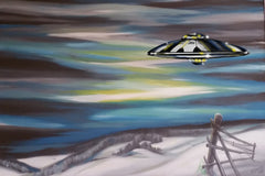 "SPCPRT - 046 - "" Winter Valley Visitors II "" by Ernst Zundel"