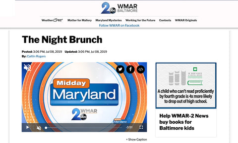 The Night Brunch Feat. on WMAR 2 News Baltimore