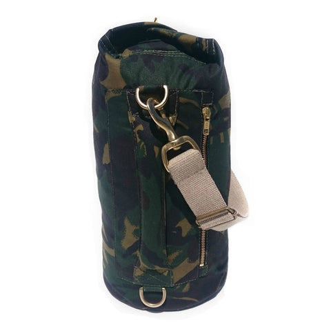 Waxed Canvas Duffel Bag Camouflage Small