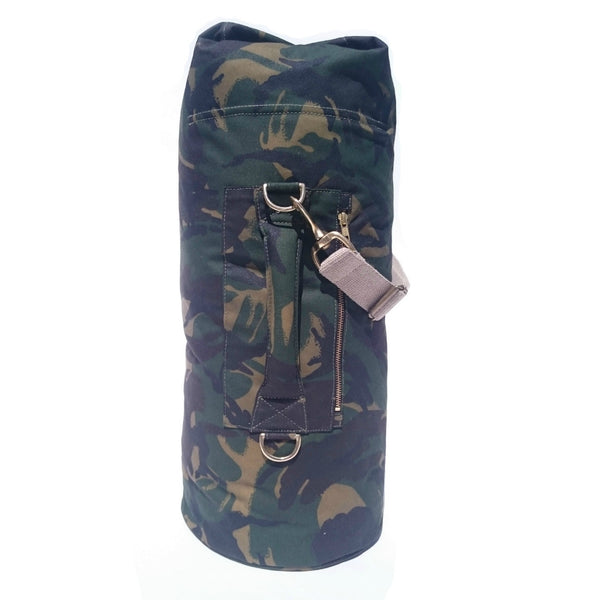 Waxed Canvas Duffel Bag Camouflage Large