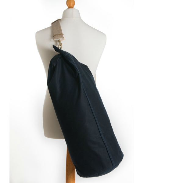 Waxed Canvas Duffle Bag Midnight Blue Large