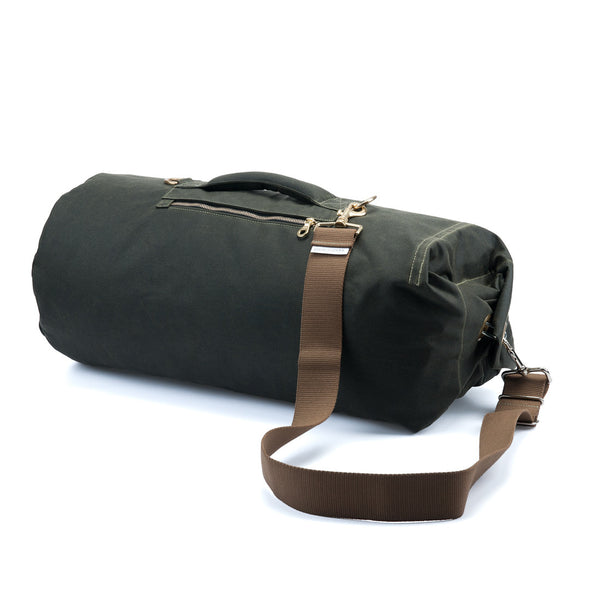 Waxed Canvas Duffel Bag Olive Green Large