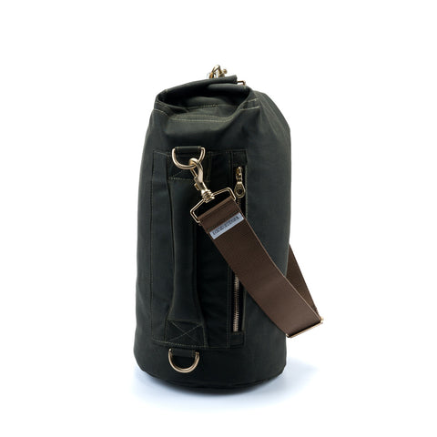 Waxed Canvas Duffel Bag Olive Green Small