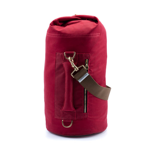 Waxed Canvas Duffel Bag Bing Cherry Medium