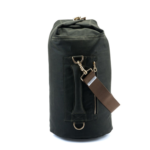 6b4031251a duffel bag Tombag Olive Green waxed canvas