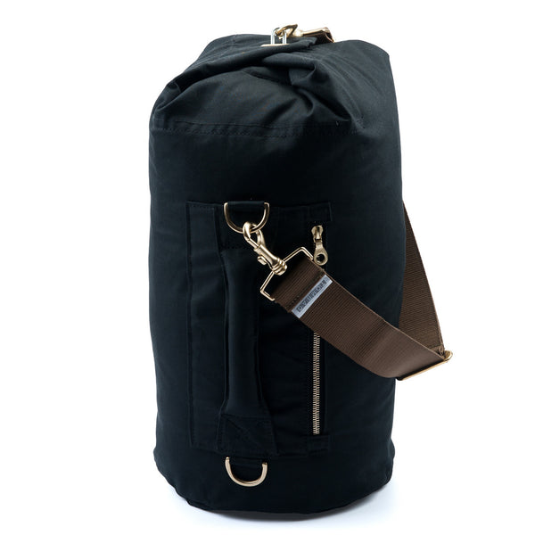 Waxed Canvas Duffel Bag Jet Black Medium