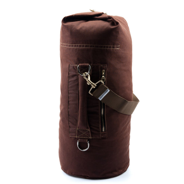 Waxed Canvas Duffel Bag Bronze Large