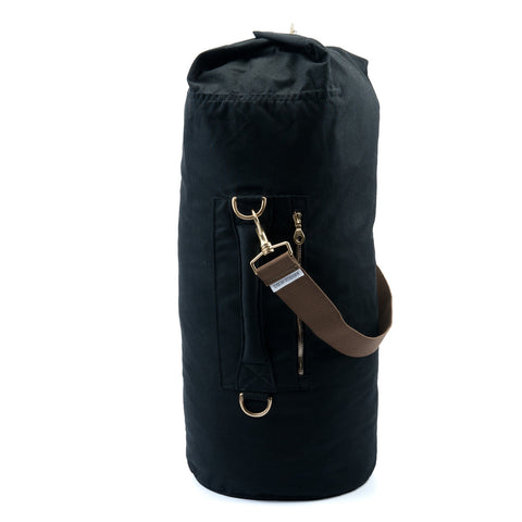 Waxed Canvas Duffel Bag Jet Black Large