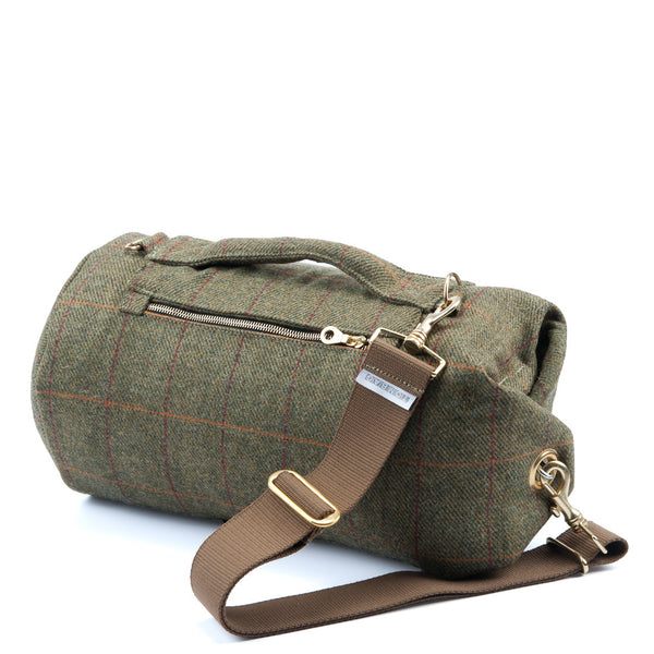 Yorkshire Tweed Duffel Bag Red Stripe Small