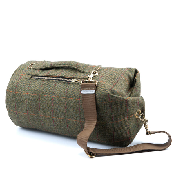 Yorkshire Tweed Duffel Bag Red Stripe Medium
