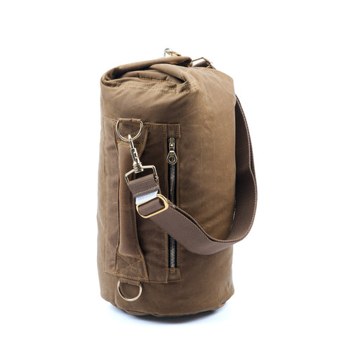 Waxed Canvas Duffel Bag Banoffee Tan Small