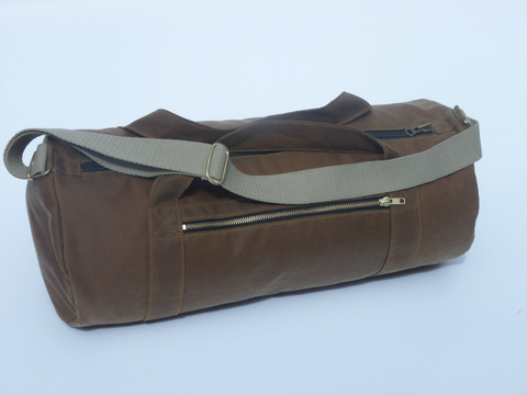 Waxed canvas waterproof gym bag overnight bag weekend bag