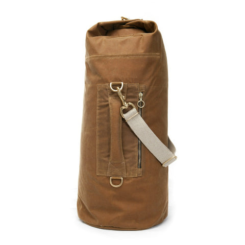 Waxed Canvas Duffle Bag Banoffee Tan Large