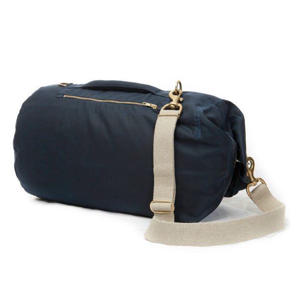 Waxed Canvas Duffel Bag Midnight Blue Medium