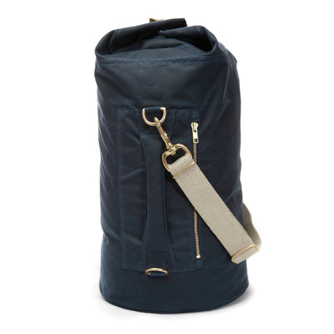 Waxed Canvas Duffel Bag Midnight Blue Small