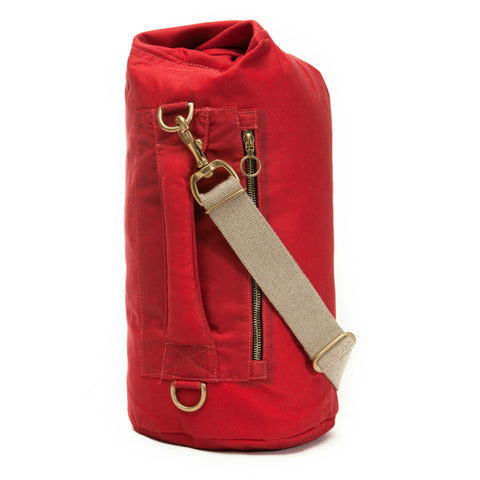 Waxed Canvas Duffel Bag Bing Cherry Small