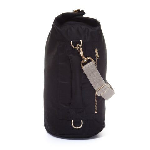 Waxed Canvas Duffel Bag Jet Black Small