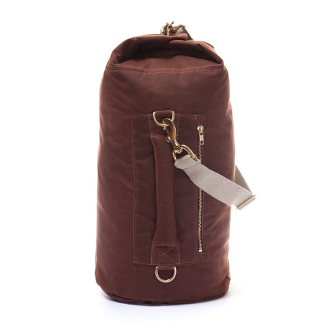 Waxed Canvas Duffel Bag Bronze Small
