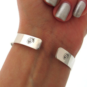 Silber Rose Armband - Mutter Tochter Armband
