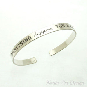 Graviertes Sterling Silber Armband