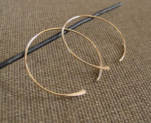 lightweight hoops in gold filled