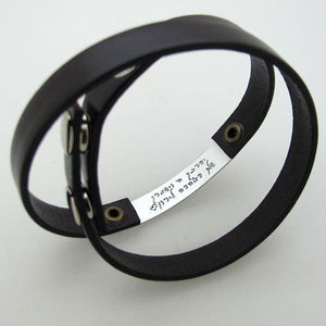 custom hidden message bracelet for men