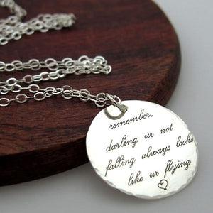 Sterling Silber personalisierte Inspiration-Kette