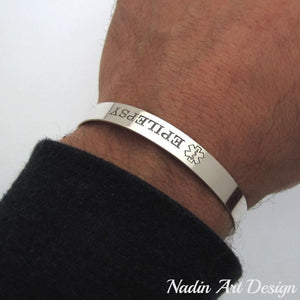 Custom engraved medical bracelet