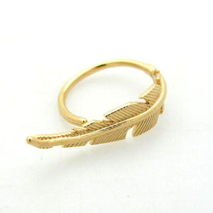 Feather Gold Rings
