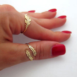 14K Gold Filled Gold Feather Ring