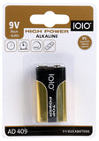 1010. 9V High Power Alkaline Rafhlaða