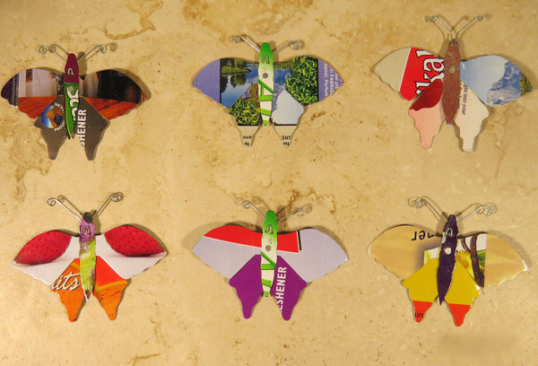 Butterflies Pins of different colors