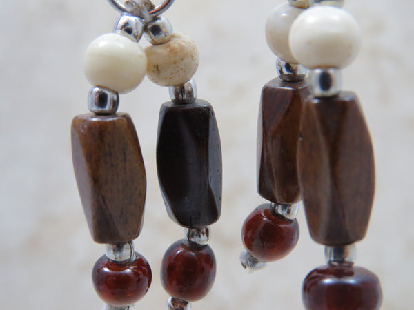 Closeup of Ahba earrings