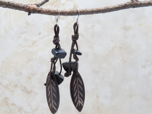 Ethnic Foliage Earrings