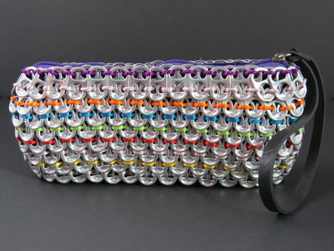 Loredo Purple Rainbow Pop Tab Clutch