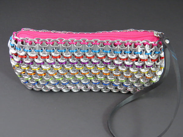Loredo Pink Rainbow Pop Tab Clutch