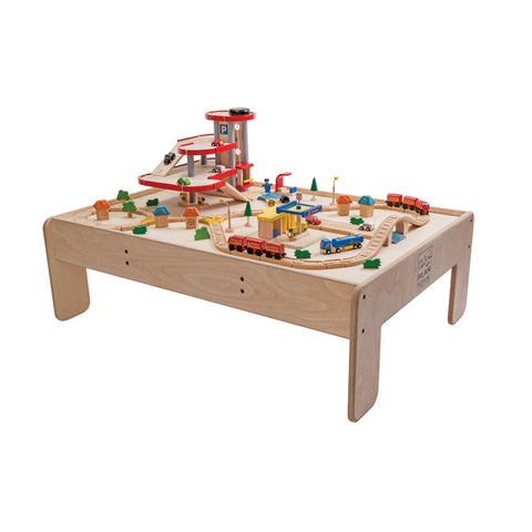 8349 Play table + plancity parking garage +road&rail for in - store display