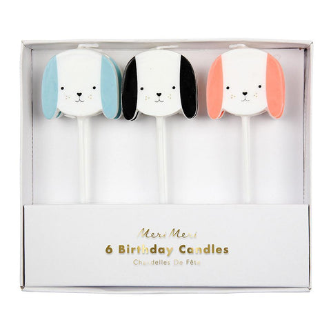 CANDLES DOGS S/6 170497