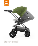 Stokke® Scoot Black V3 Melange canopy Green