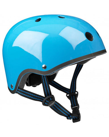 Casco Neon Blue