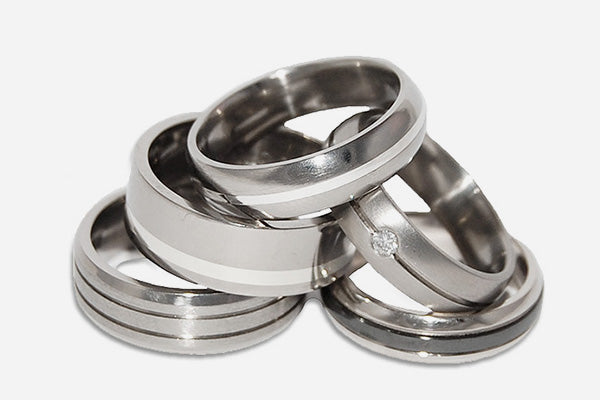 Titanium & Zirconium Wedding Rings