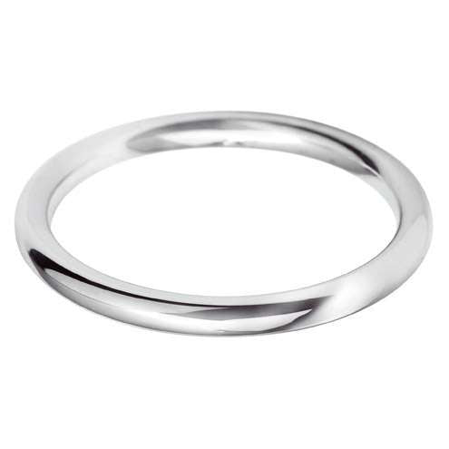 18ct White Gold Ladies BC Shaped Wedding Ring