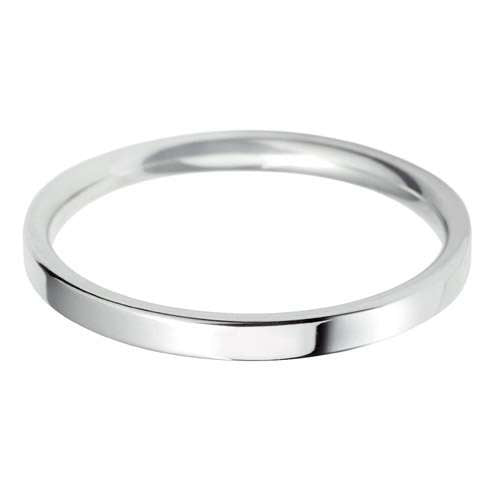Platinum Ladies FC Shaped Wedding Ring