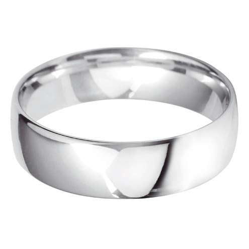 9ct White Gold Gents BLC Wedding Ring