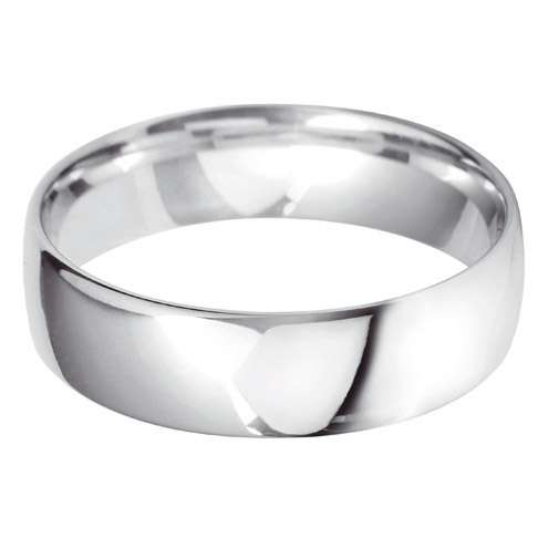 18ct White Gold Gents BLC Shaped Wedding Ring