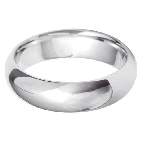 Platinum Gents Court Shaped Wedding Ring